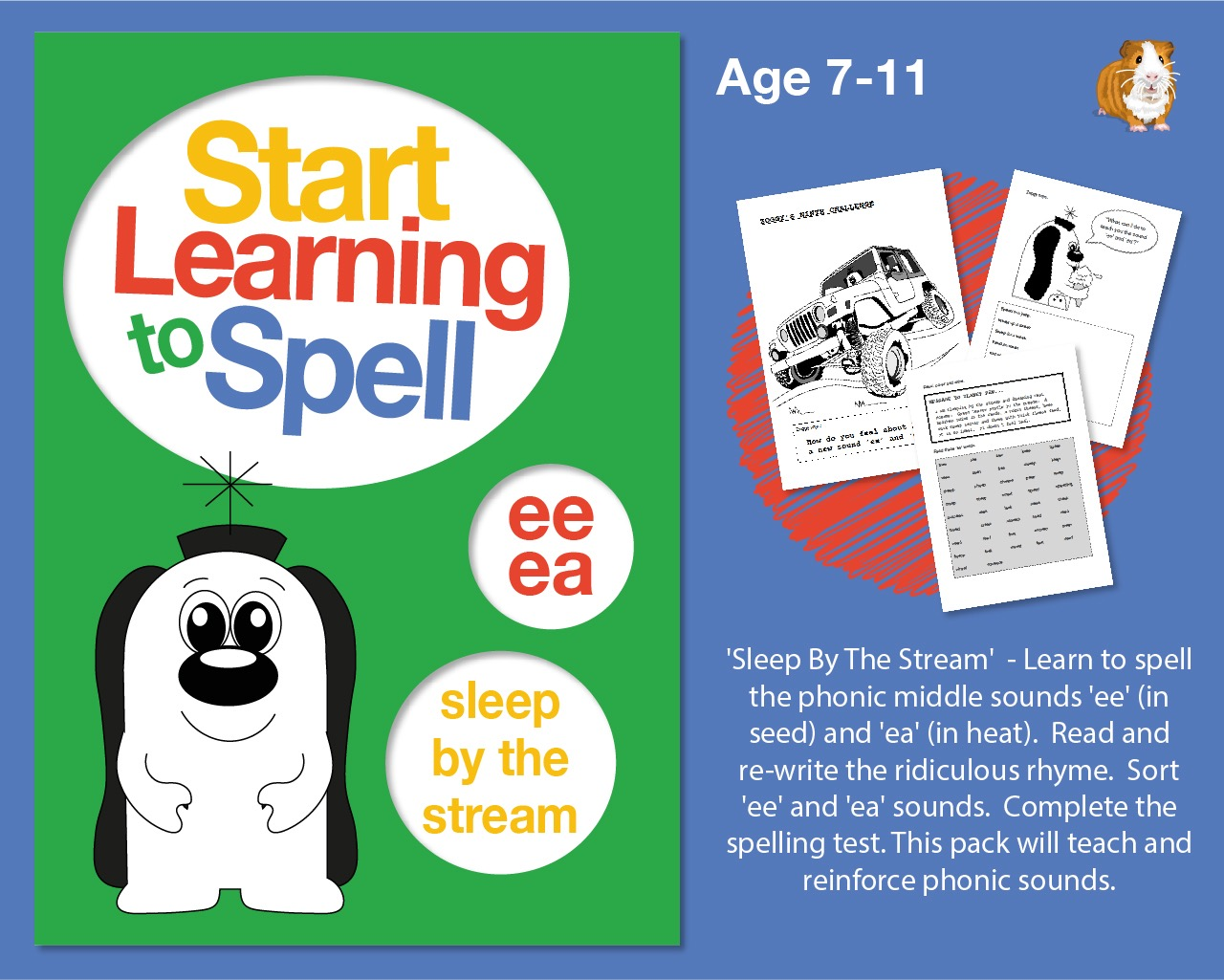'Sleep By The Stream' Learn To Spell Words With 'ee' And 'ea' (7-11 years)