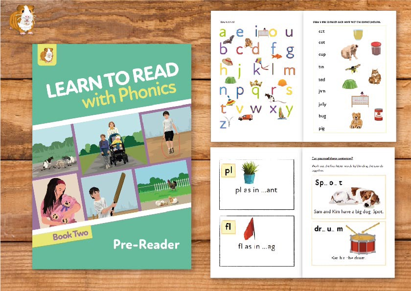 2. Learn to Read with Phonics | Pre-Reader Book 2 | Print Book