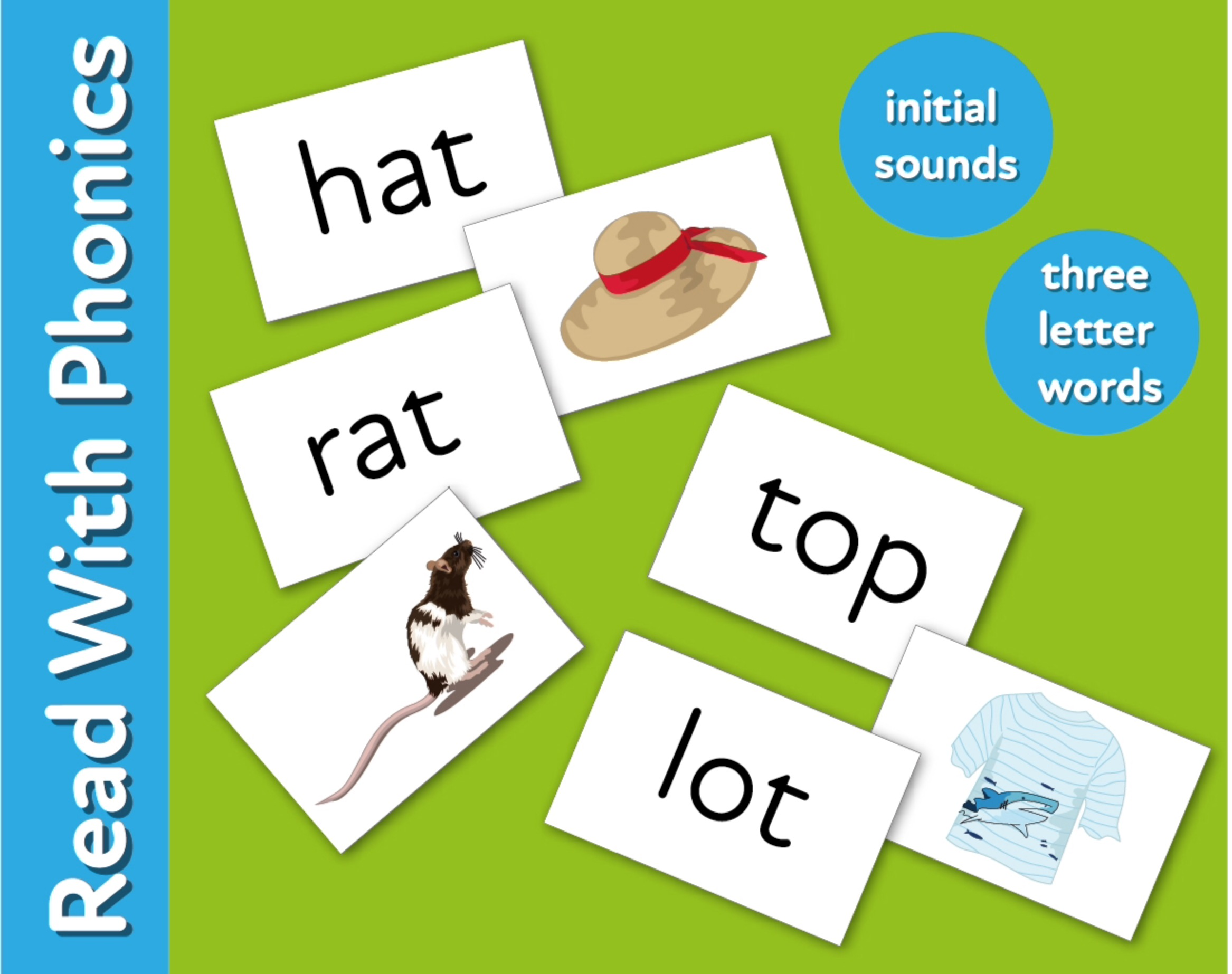 Revise Initial Sounds & Three Letter Words with activity cards (3 +)