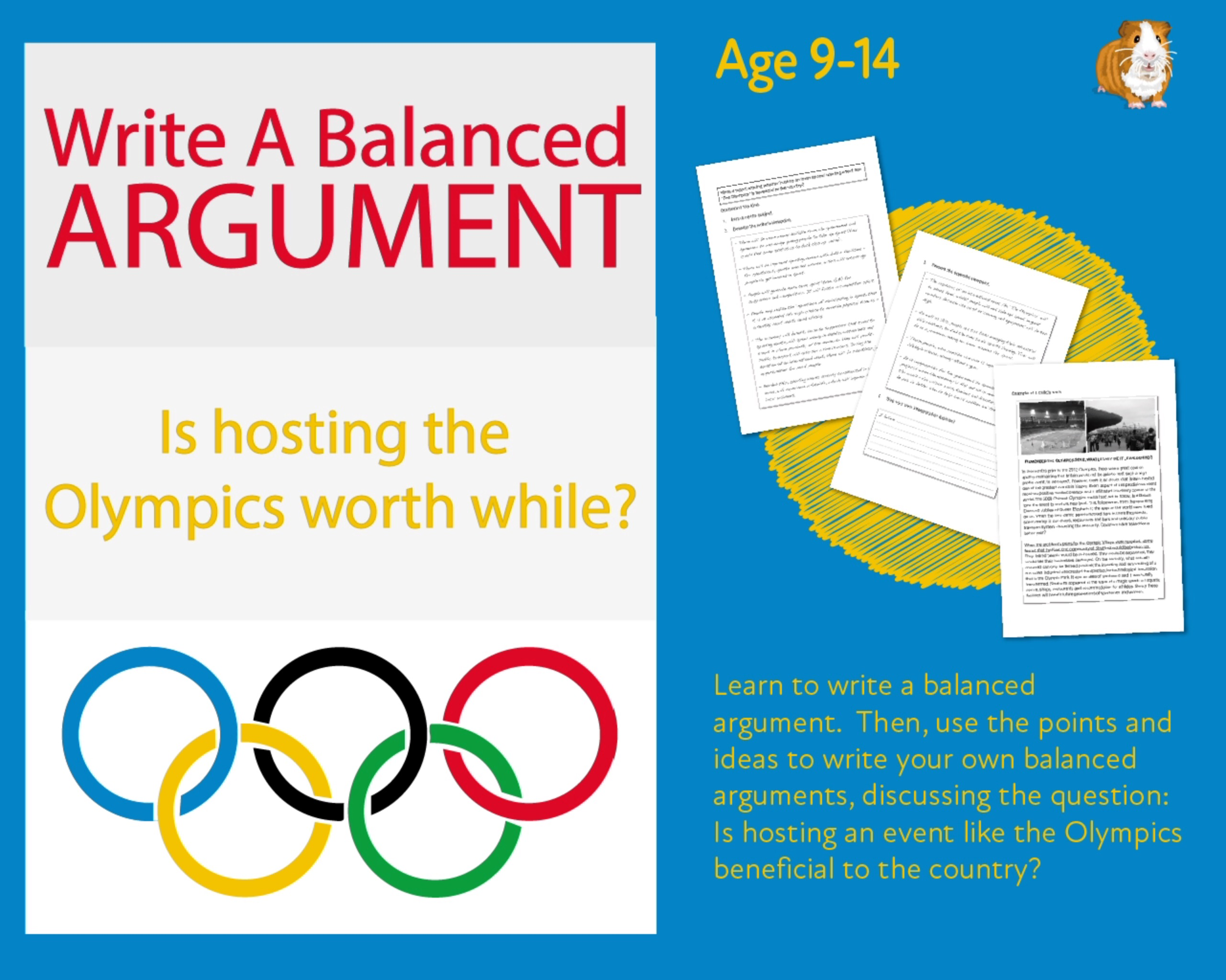 Practise Writing A Balanced Argument: Is Hosting 'The Olympics' Beneficial To A Country (9-14 years)