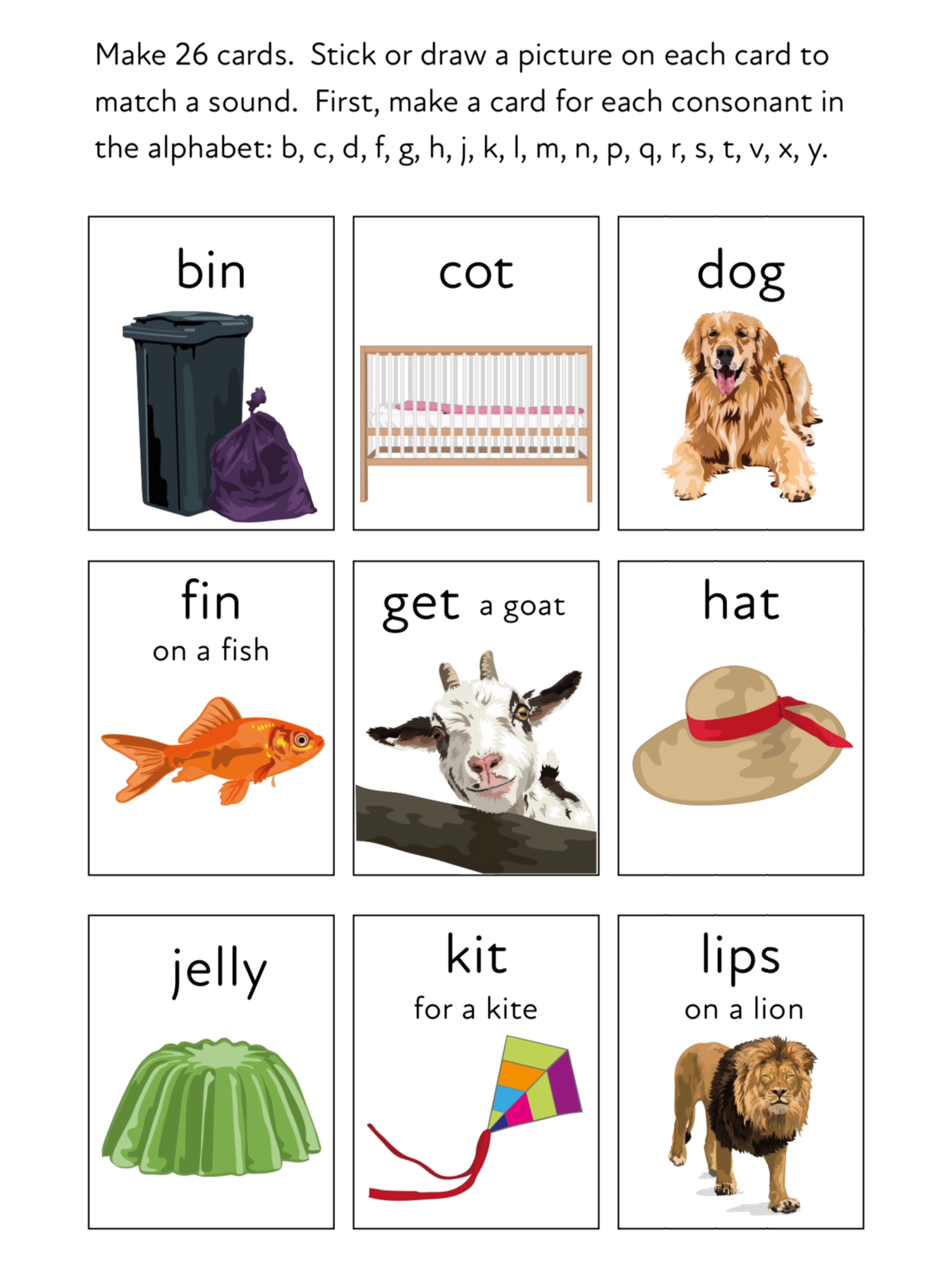 Play A Matching Game To Learn 26 Initial Sounds (3 +)