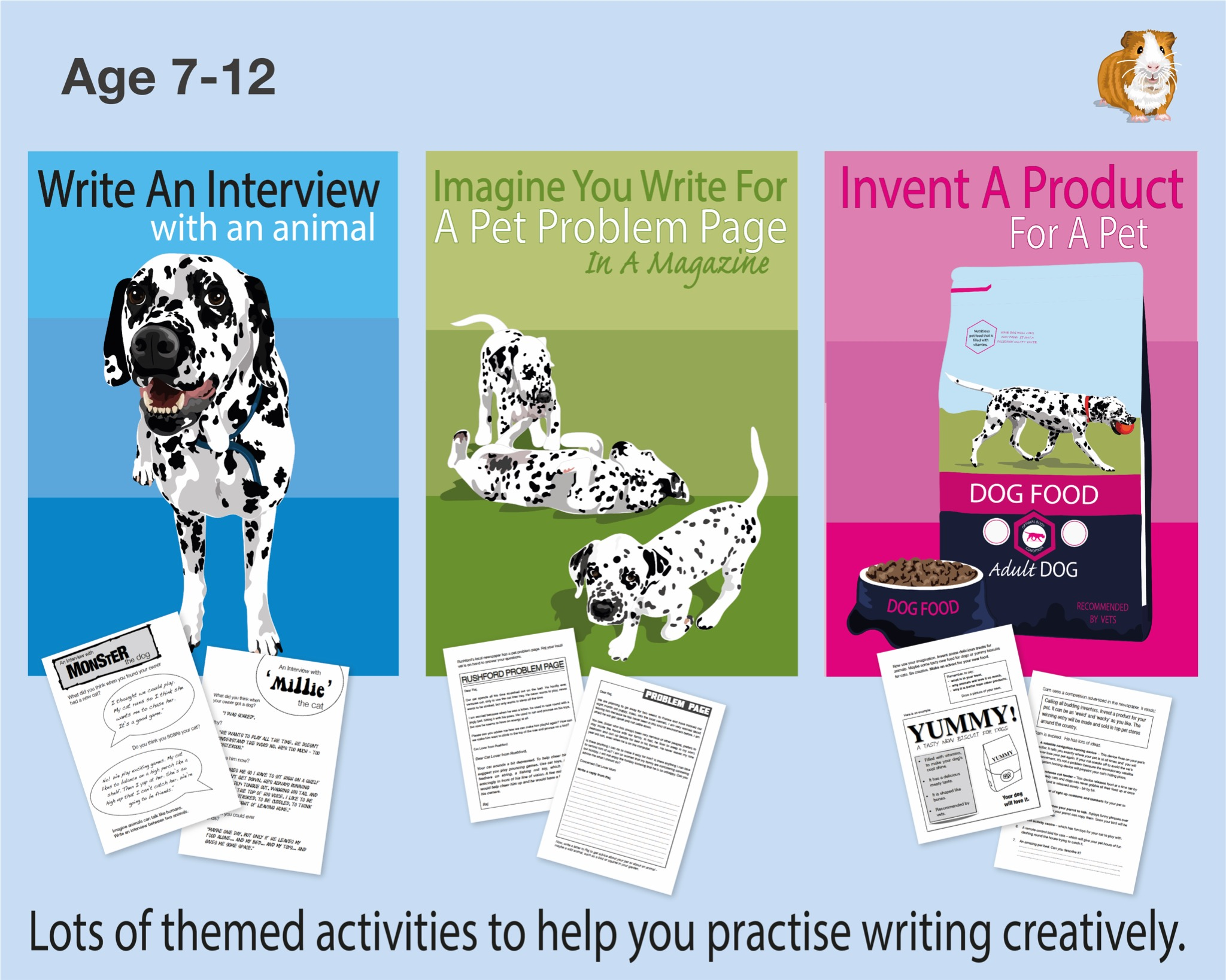 Pack 2: Lots Of Writing Tasks With An Animal Theme (7-12 years)