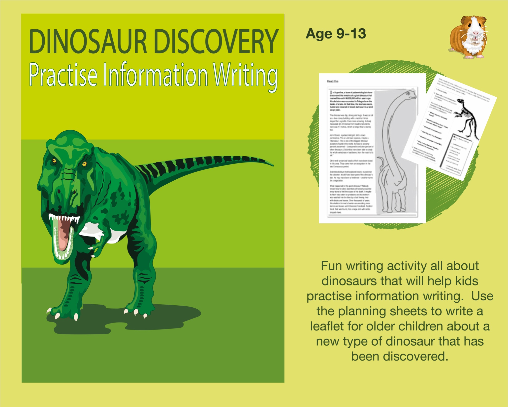 Dinosaur Discovery: Practise Information Writing (SATS And 11+ Essential Writing Practice) (9-13)