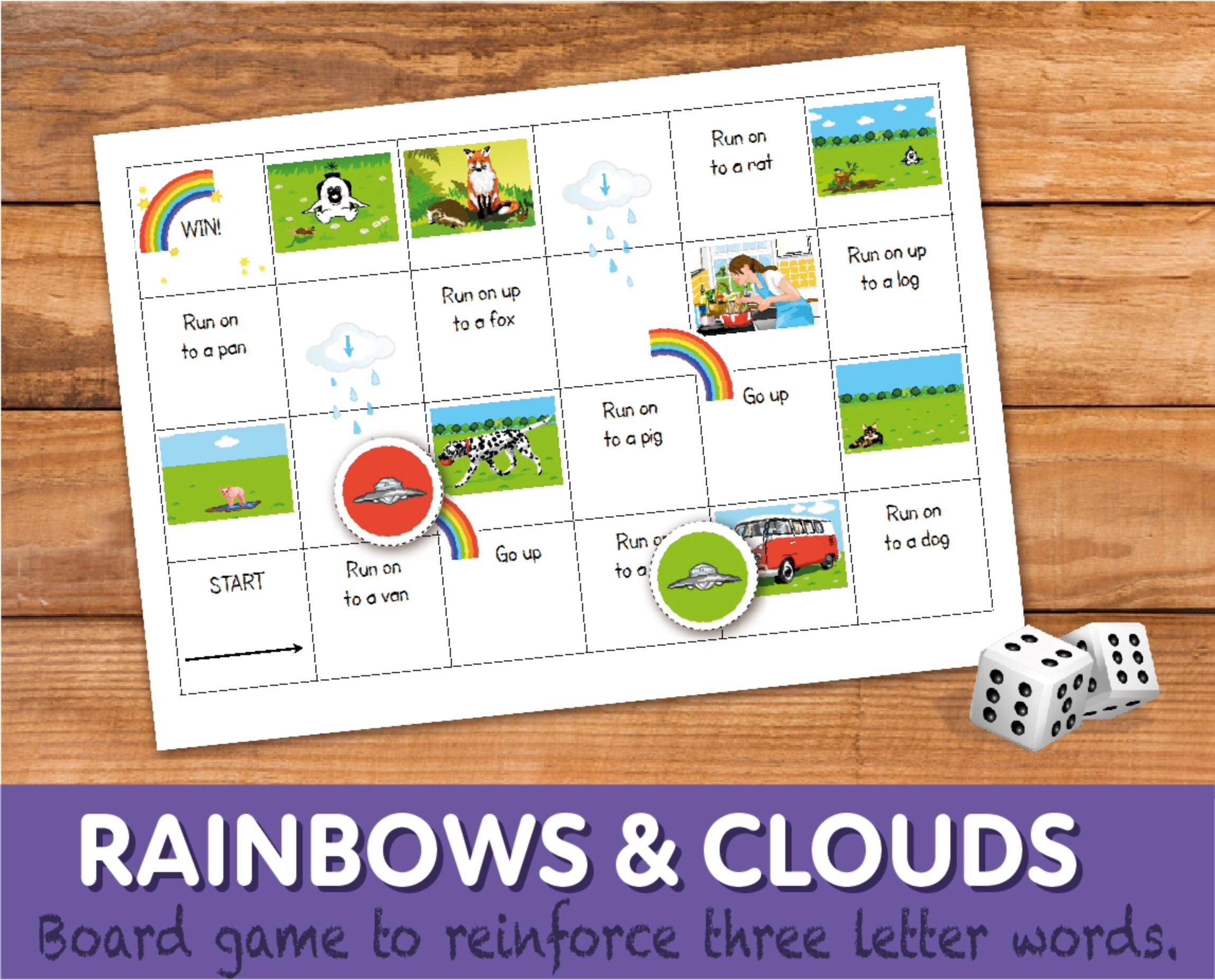 Rainbows And Clouds Snakes And Ladders (4-7 years)