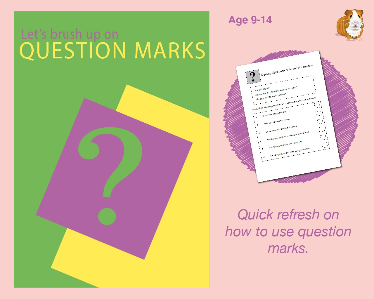 Brush Up On Using Question Marks (9-14 years)