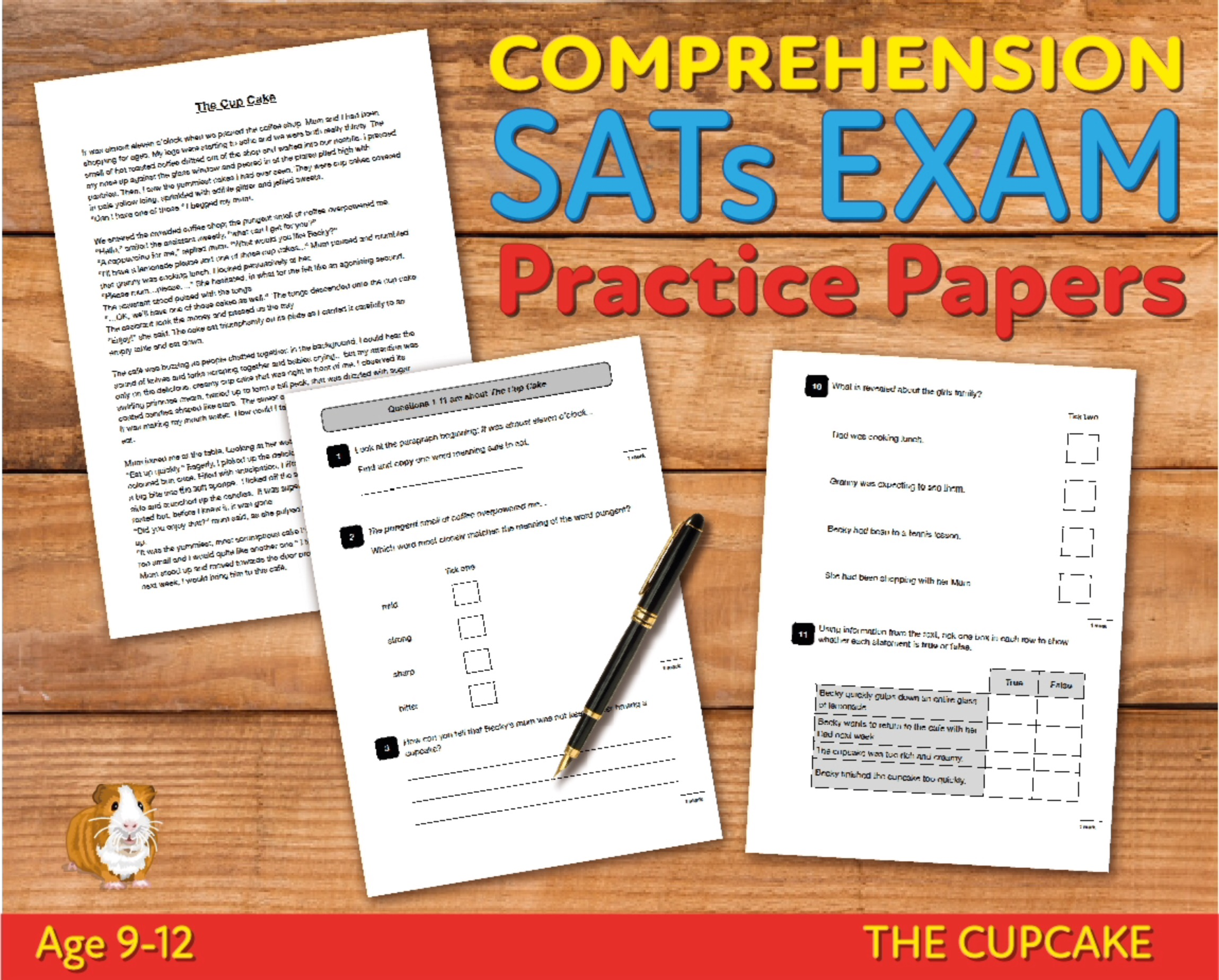 SATS Comprehension Tests (The Cup Cake) 9-12 years Digital Download
