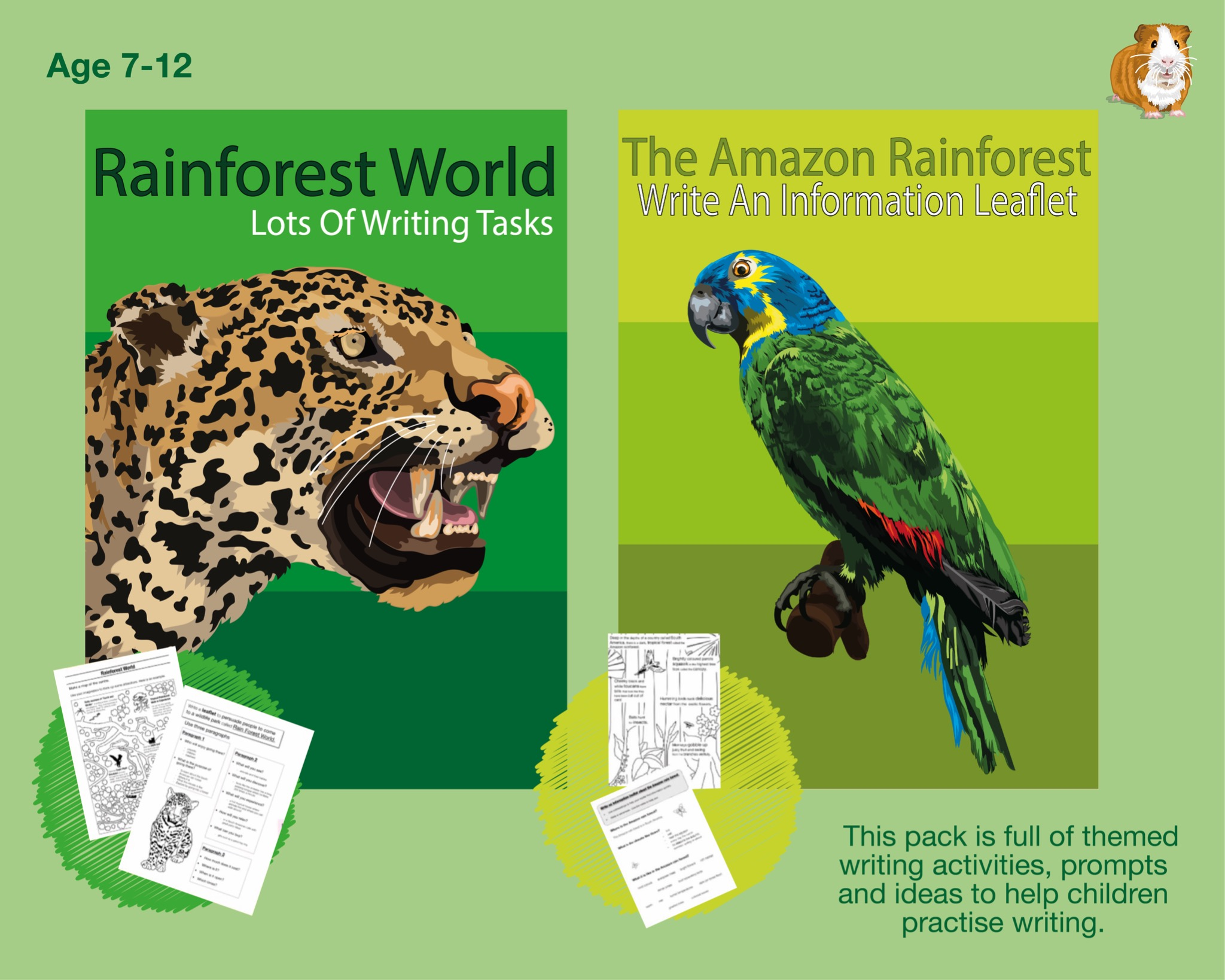 Lots Of Writing Tasks About The Rainforest (7-12 years)