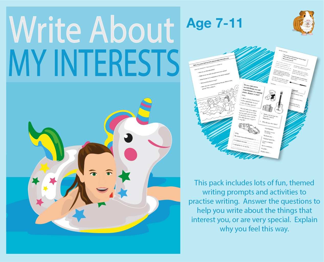 Write About My Interests (7-11 years)