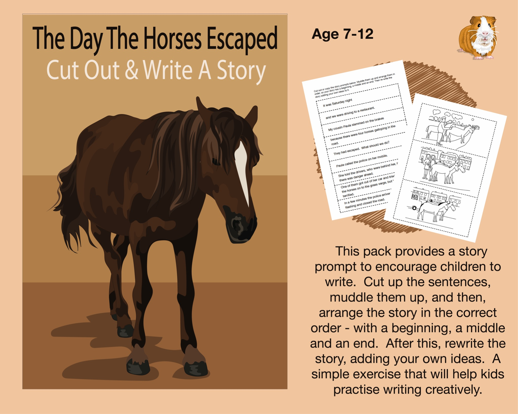 Cut Out And Write A Story Called 'The Day The Horses Escaped' (7-12 years)
