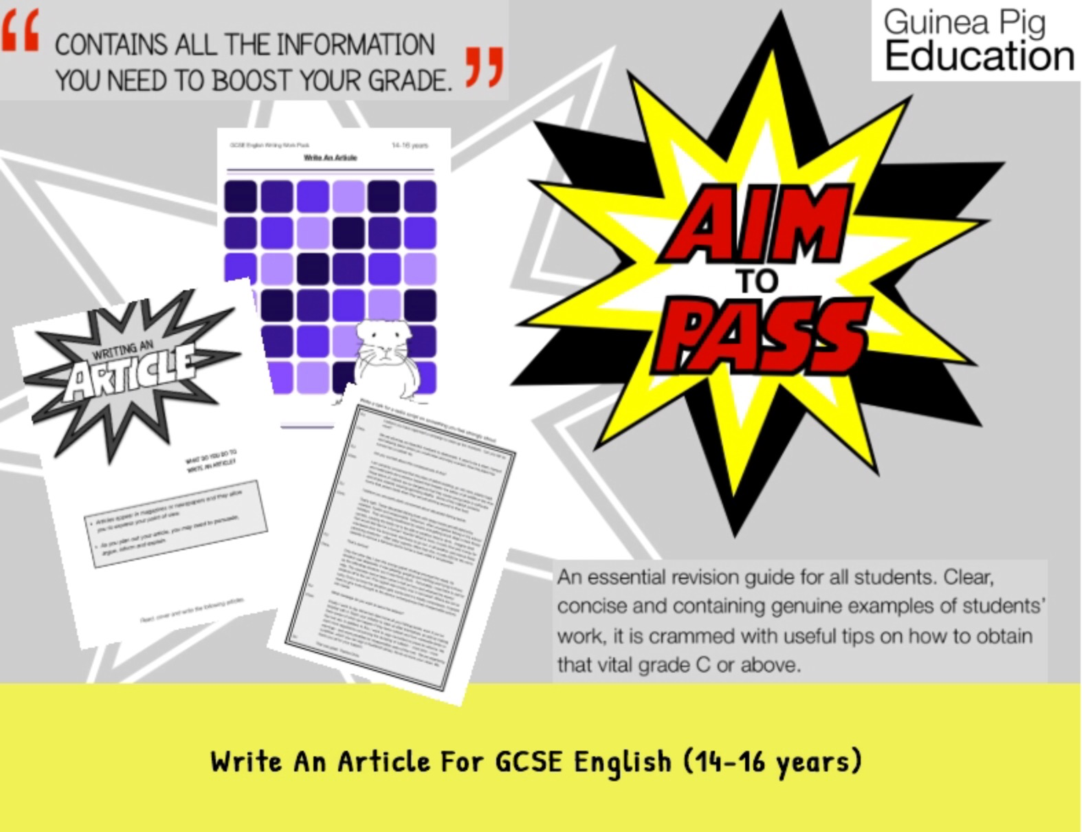 Write An Article (Improve Your Grades At GCSE) (14-16 years)