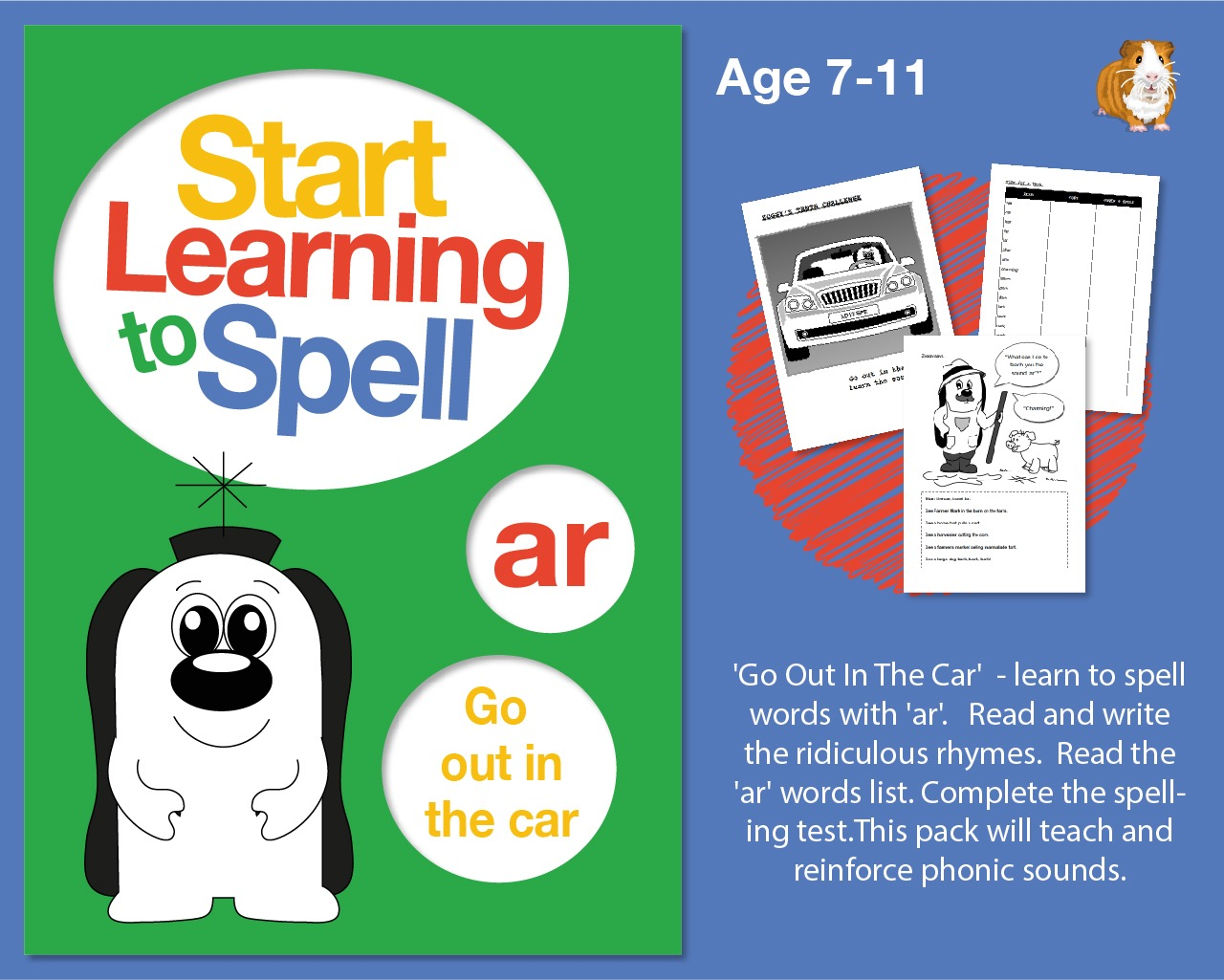 'Go Out In The Car' Learn To Spell Words With 'ar' (7-11 years)