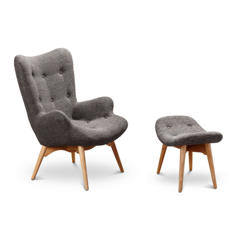 Lund Armchair and Footstool