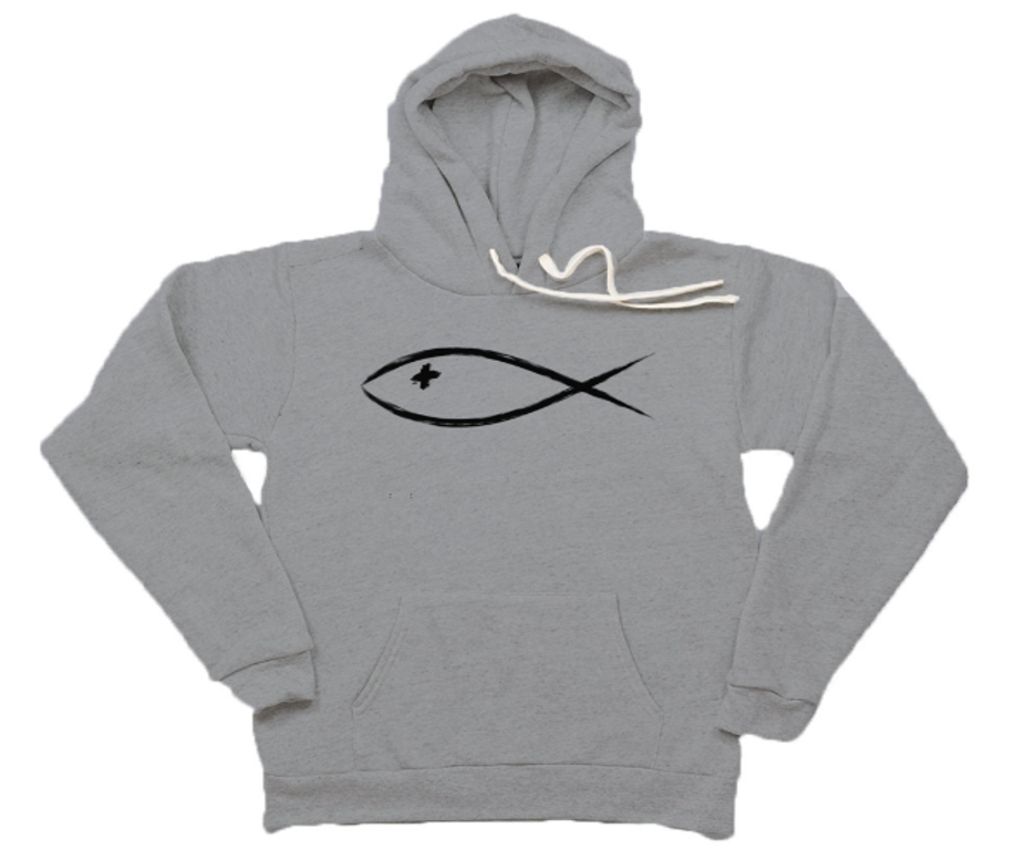 "Ichthys - ""The Fish"" Unisex Fleece Hoody"