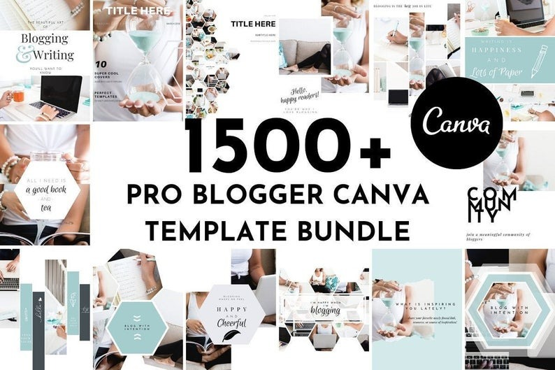 1500+ Pro Blogger Canva Template Set | eCourse, Lead Magnet, eBook, Workbook, Resource Guides