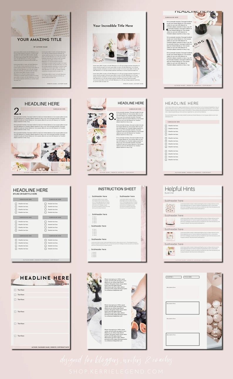 80-Page eBook & Workbook Canva Template for Bloggers