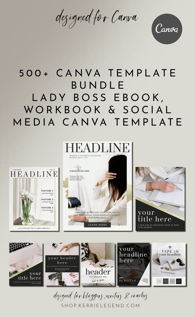 500+ Canva Template Lead Magnet Bundle