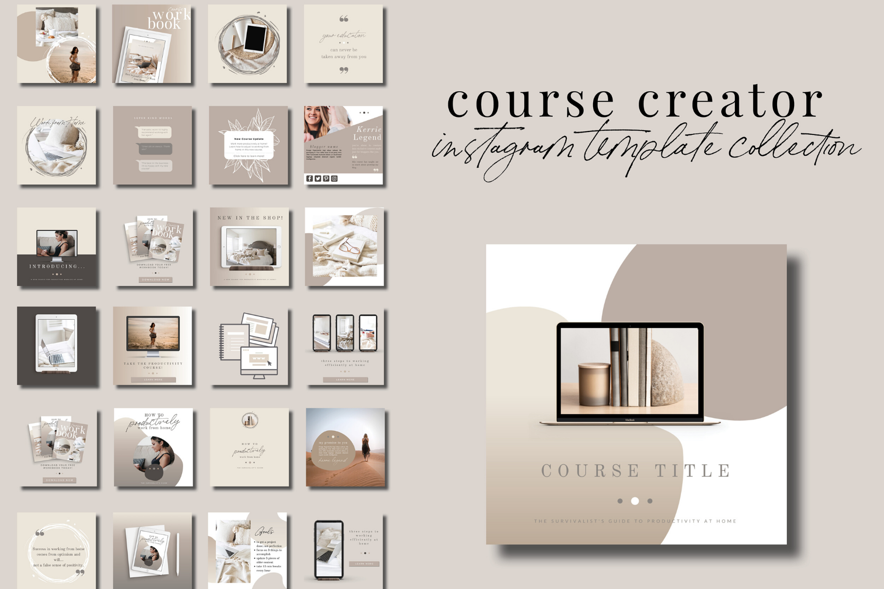 Course Creator Instagram Templates for Canva