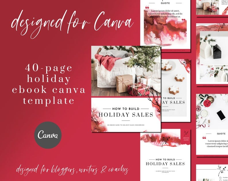 40-Page Holiday eBook & Workbook Canva Template