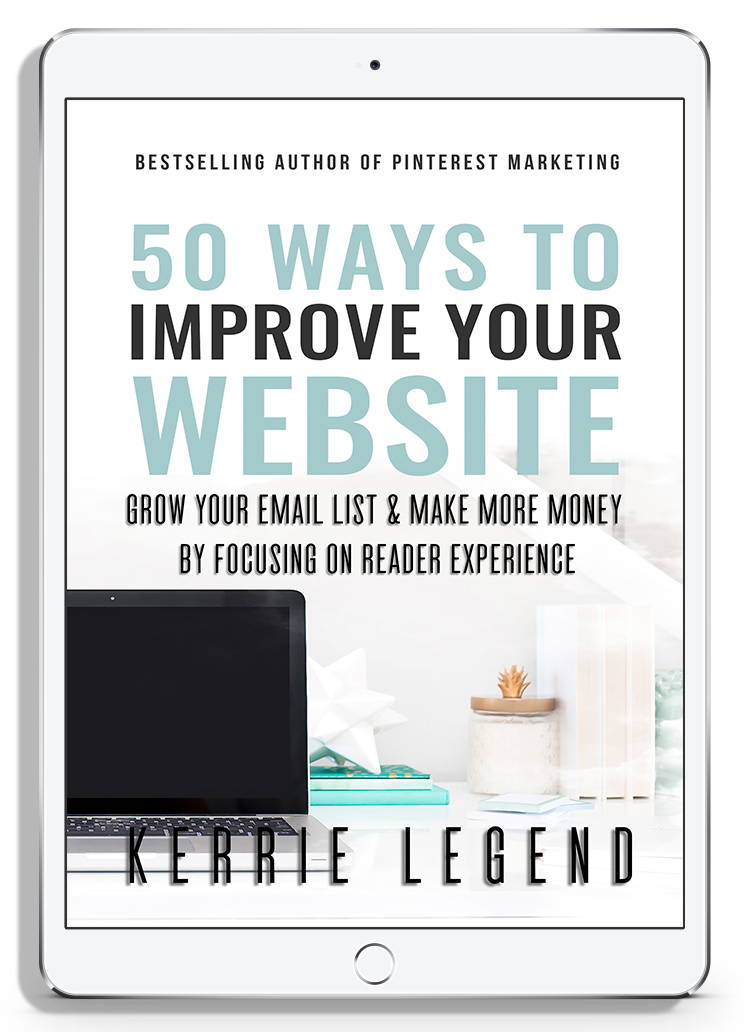 50 Ways to Improve Your Website & Workbook