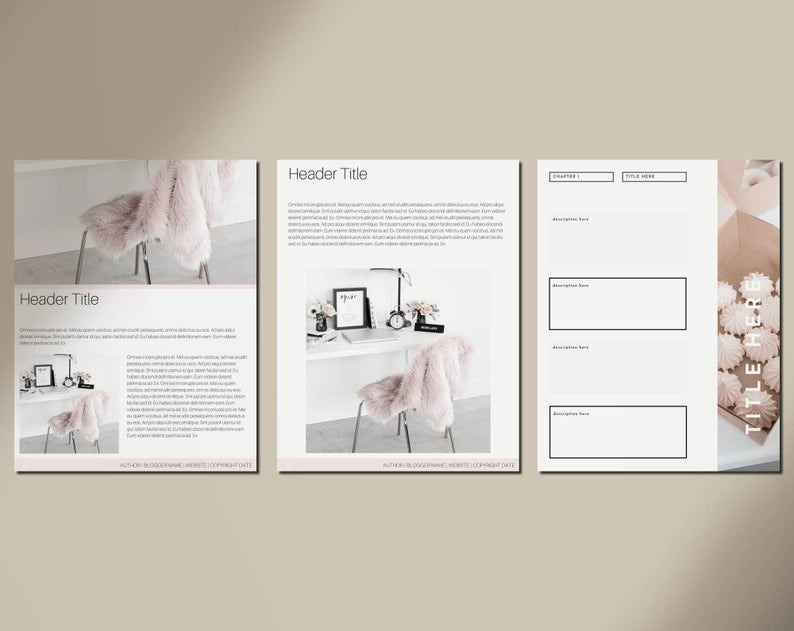 40-Page Blush eBook & Workbook Canva Template for Bloggers, Writers and Coaches - Checklists, Resour