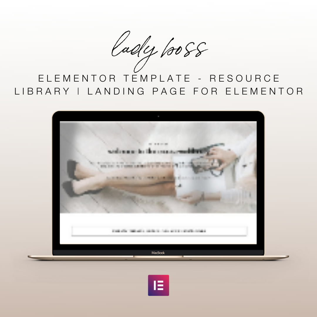Lady Boss Elementor Template - Resource Library | Landing Page for Elementor