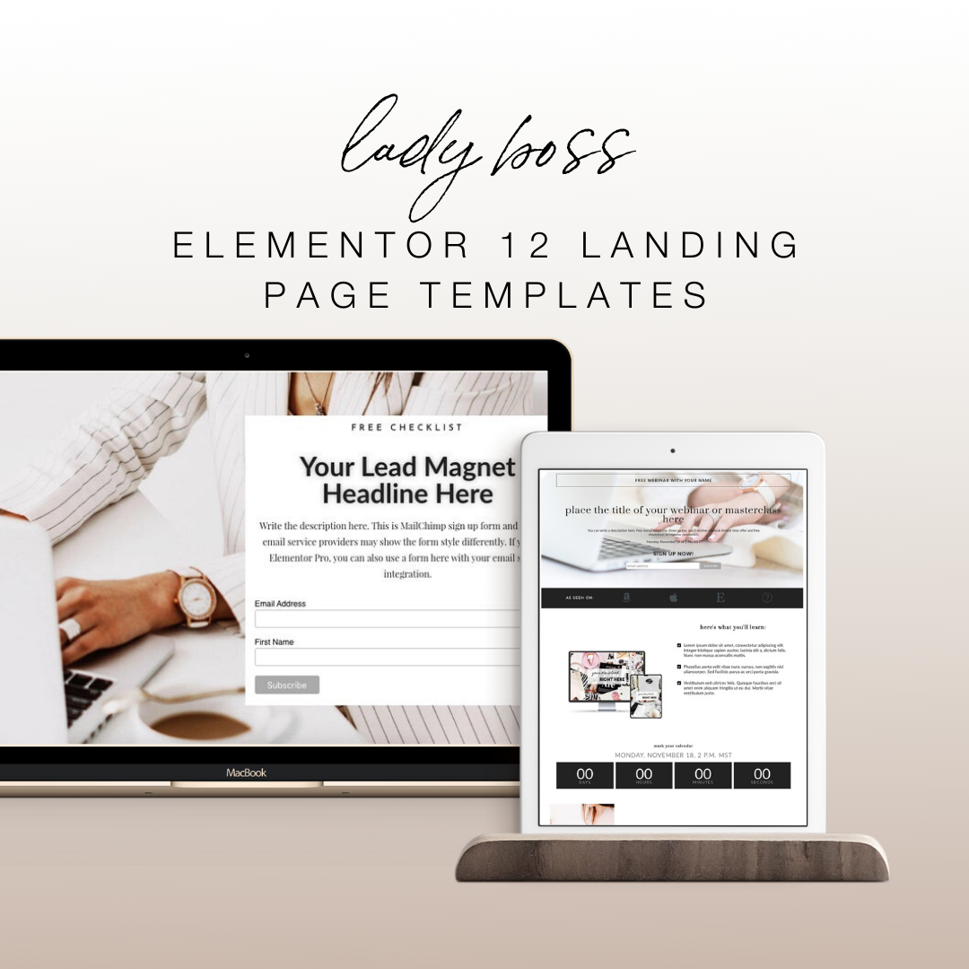Lady Boss Elementor 12 Landing Page Templates - Elementor Templates | Landing Page for Elementor | W