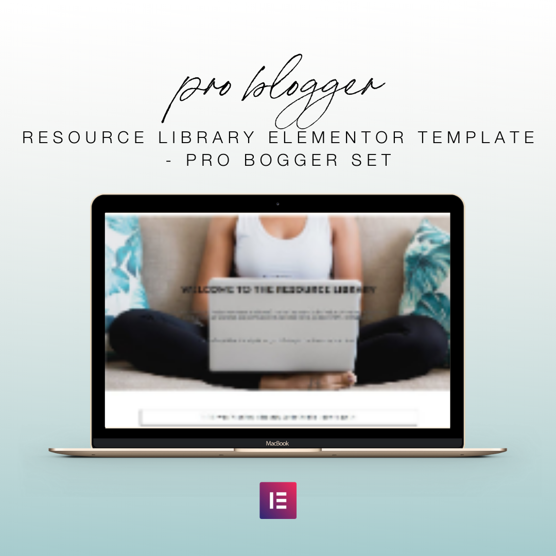 Resource Library Elementor Template - Pro Bogger Set | Landing Page for Elementor