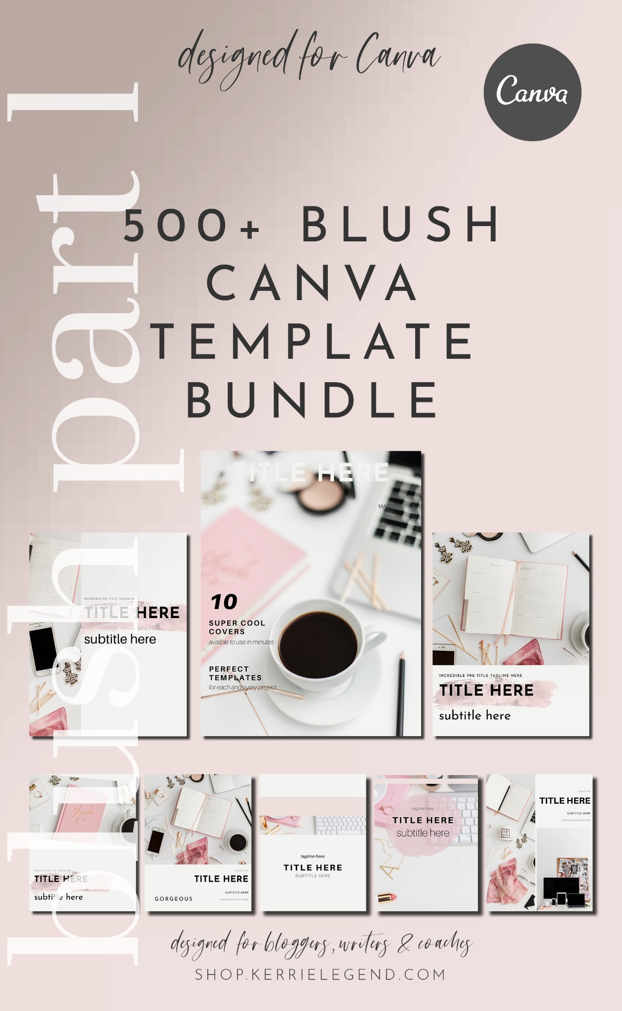 500+ Canva Template Bundle - Blush Part 1