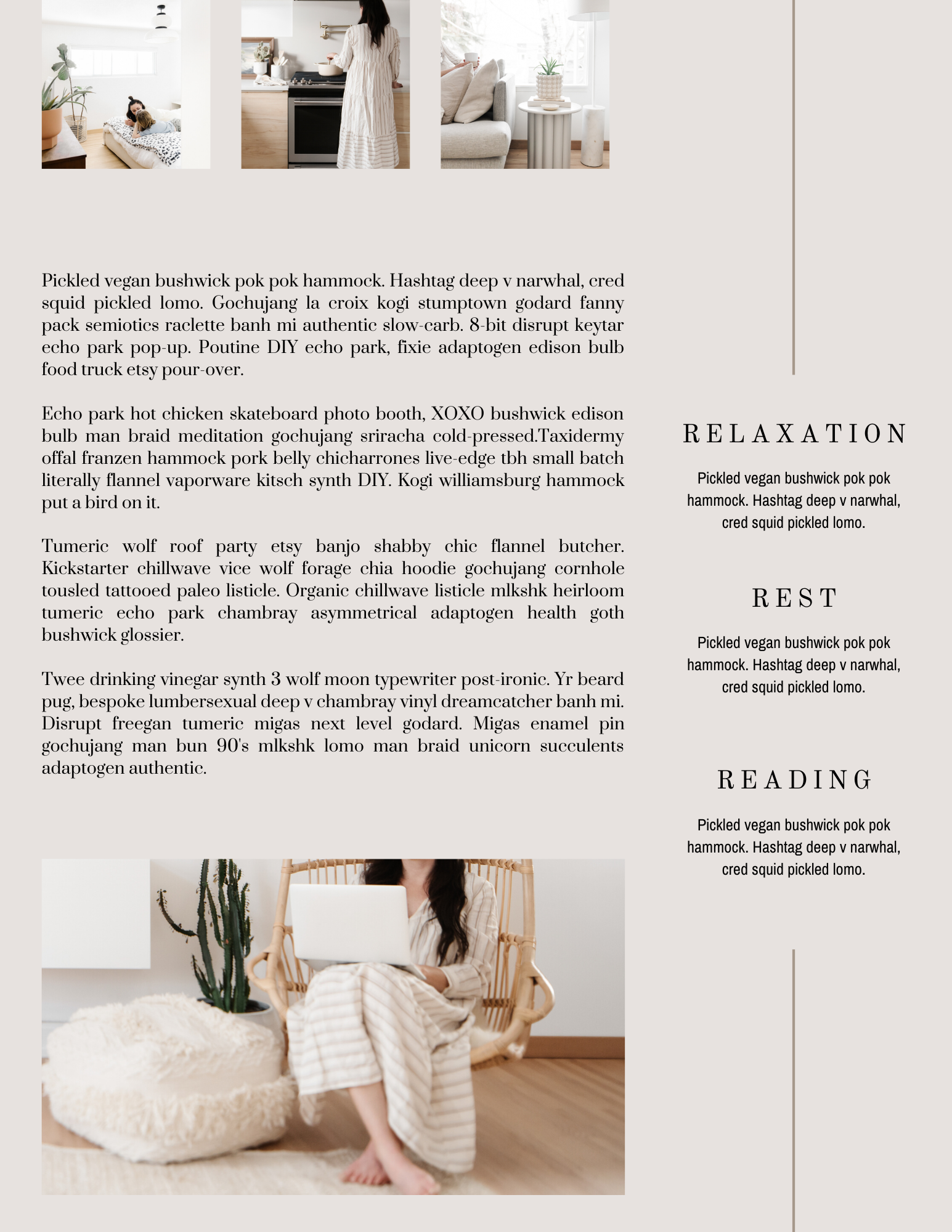 10-Page Canva Template - LIFESTYLE SOLITUDE - Calm, Minimalist eBook for Lifestyle Bloggers