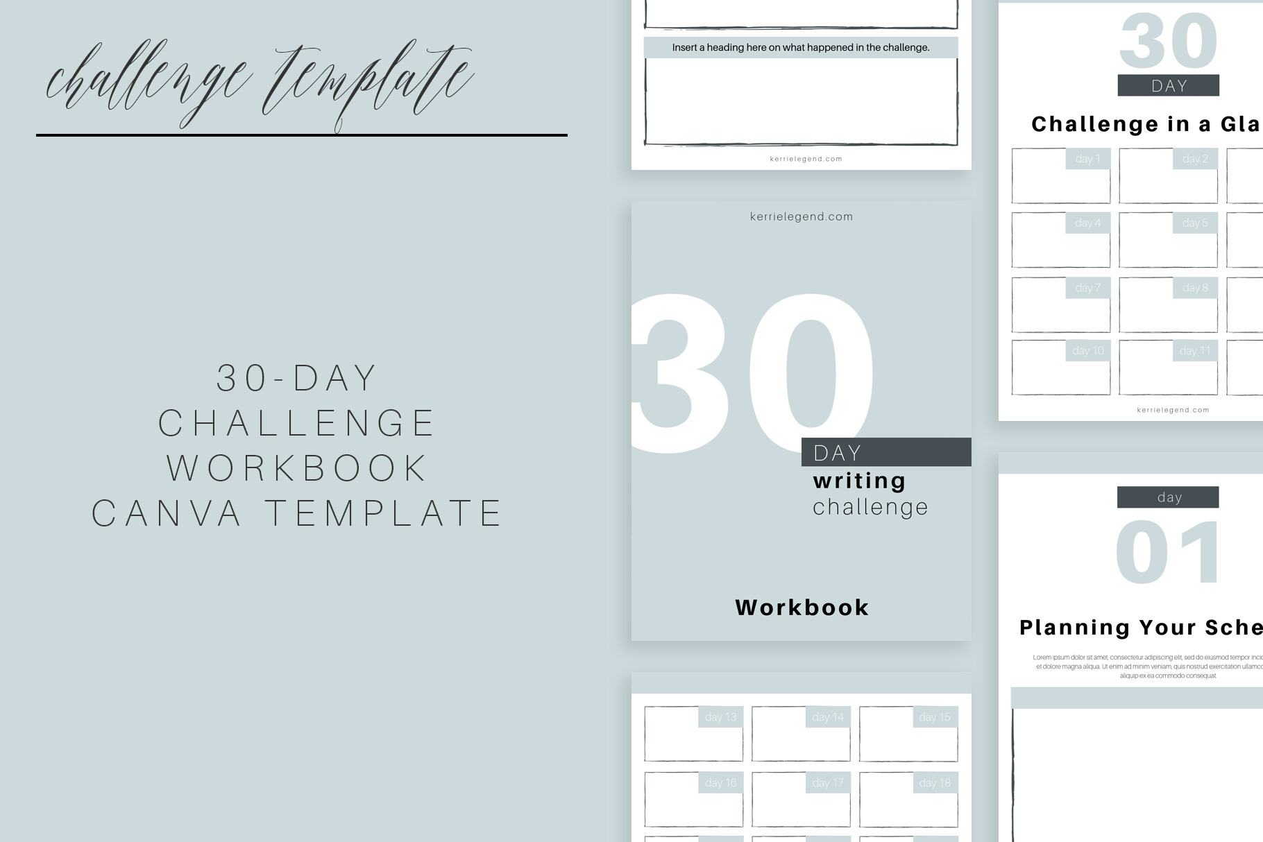 30-Day Challenge Workbook Canva Template