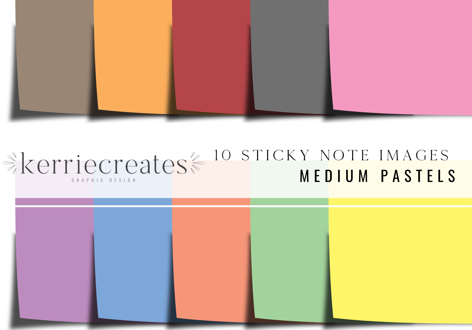10 Pastel Sticky Notes | iPad Sticky Note, Digital Planner, GoodNotes Template