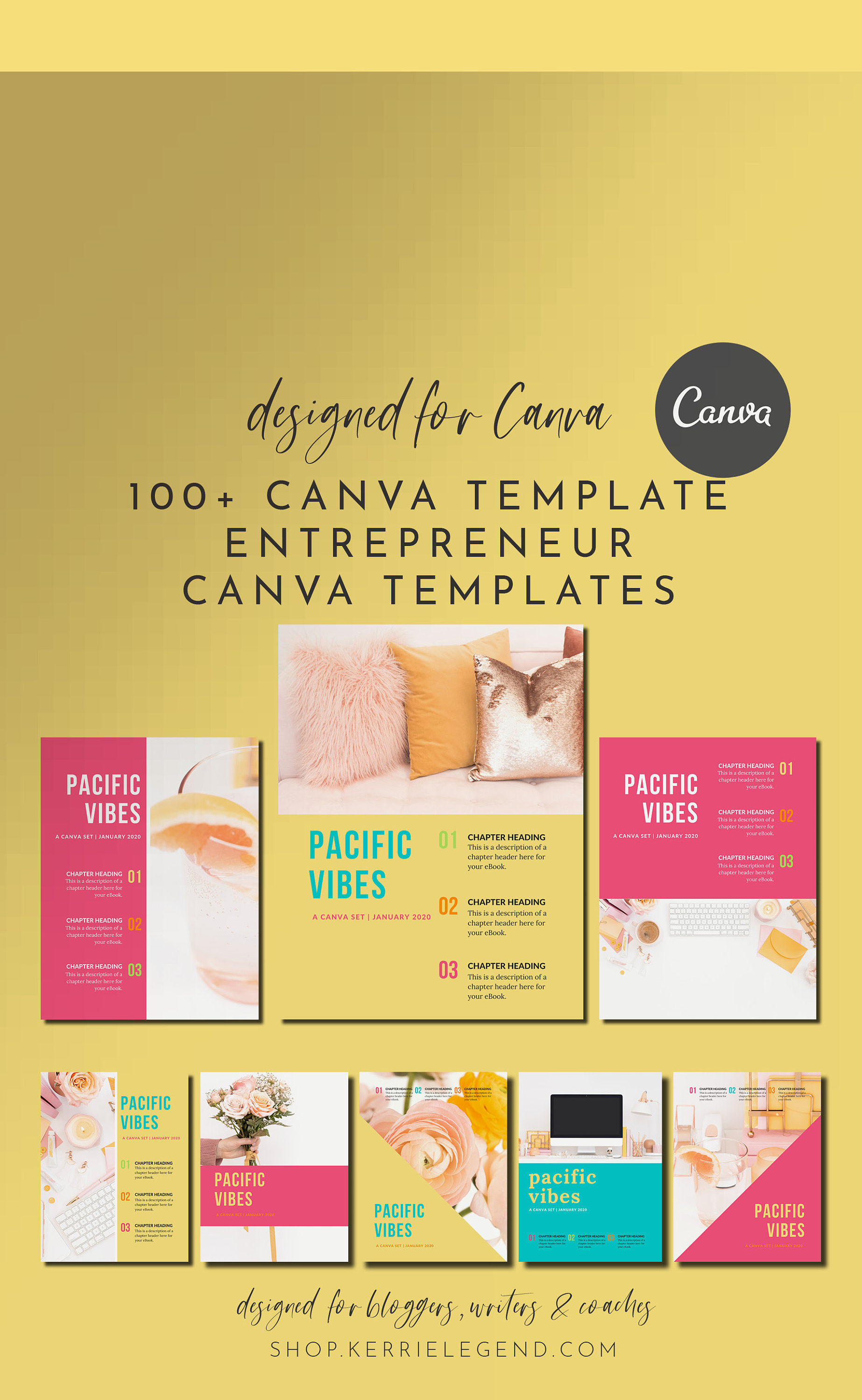 100+ Canva Template Entrepreneur Set