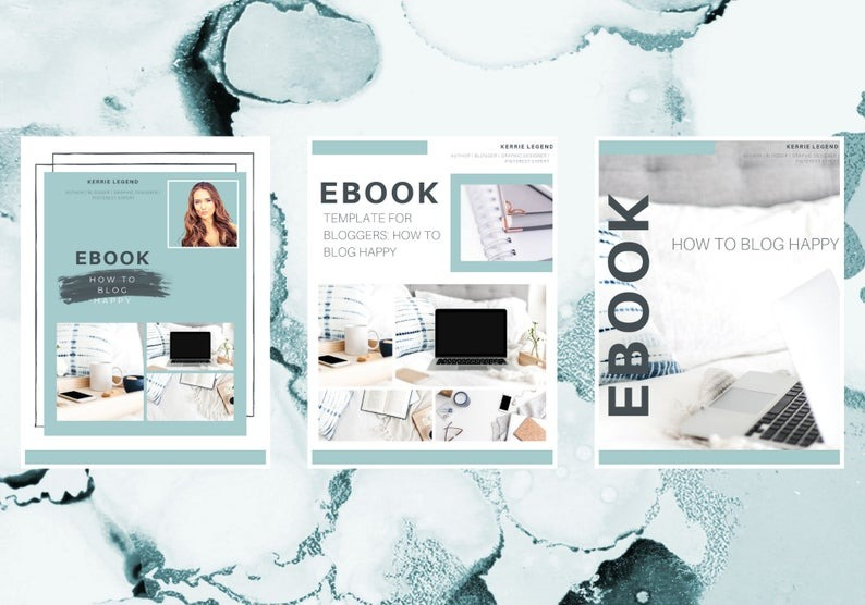 5 Canva Templates | Blog Business Templates | Planner, eCourse, eBook, Media Kit, 30 Day Challenge