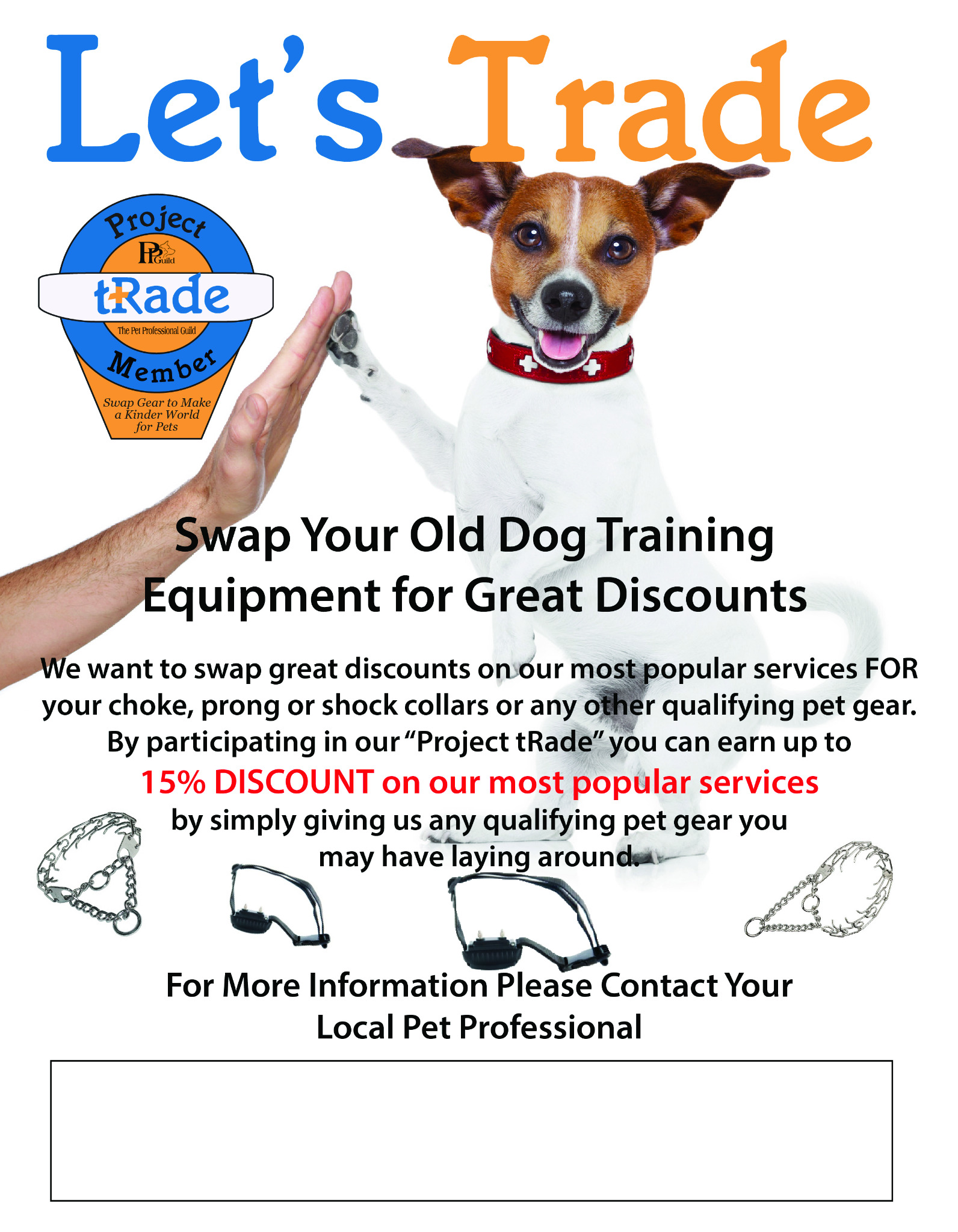 Project tRade Flyer - Customizable