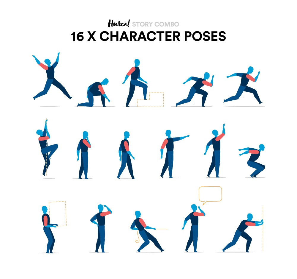 16 x Character Poses