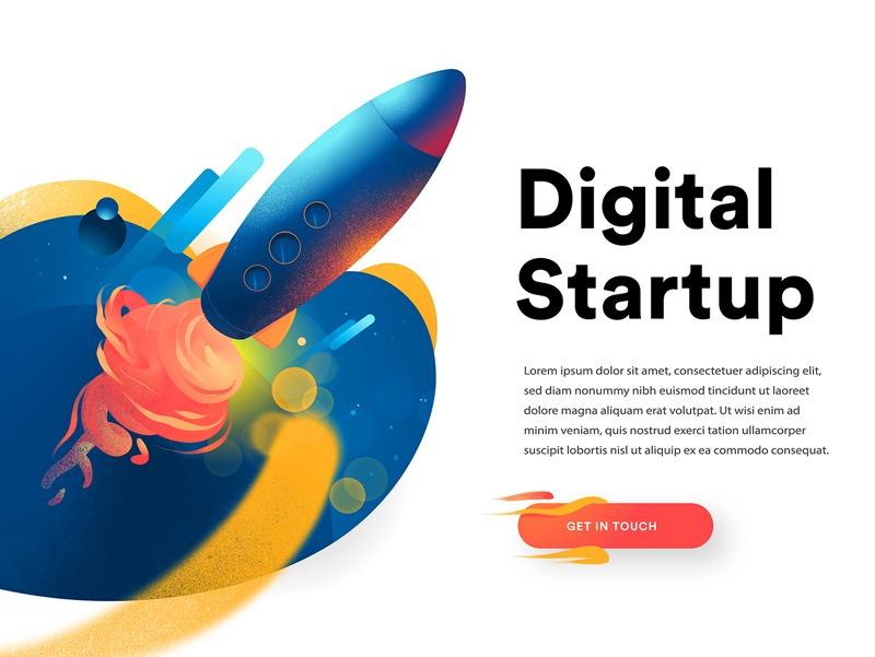 Rocket Launched Landing Page