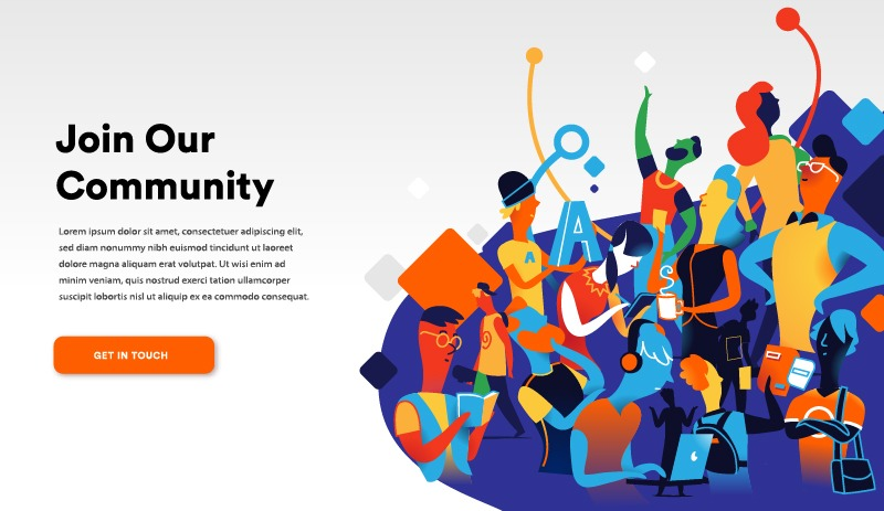 Join Our Community Landing Page