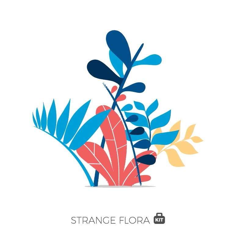 Strange Flora Vector World