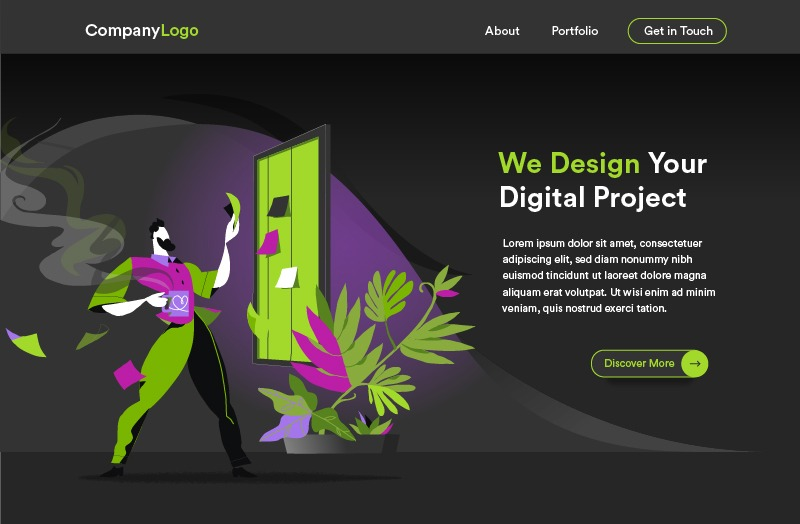 Digital Startup Project Plan - Homepage Templates