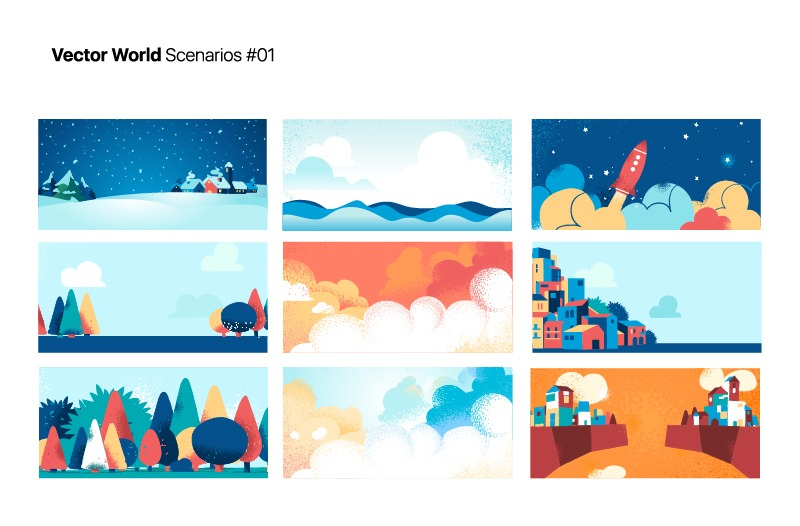 Vector World Scenarios 01