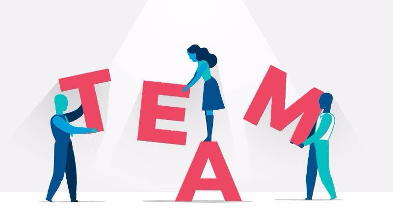 Team Building Vector Illustration