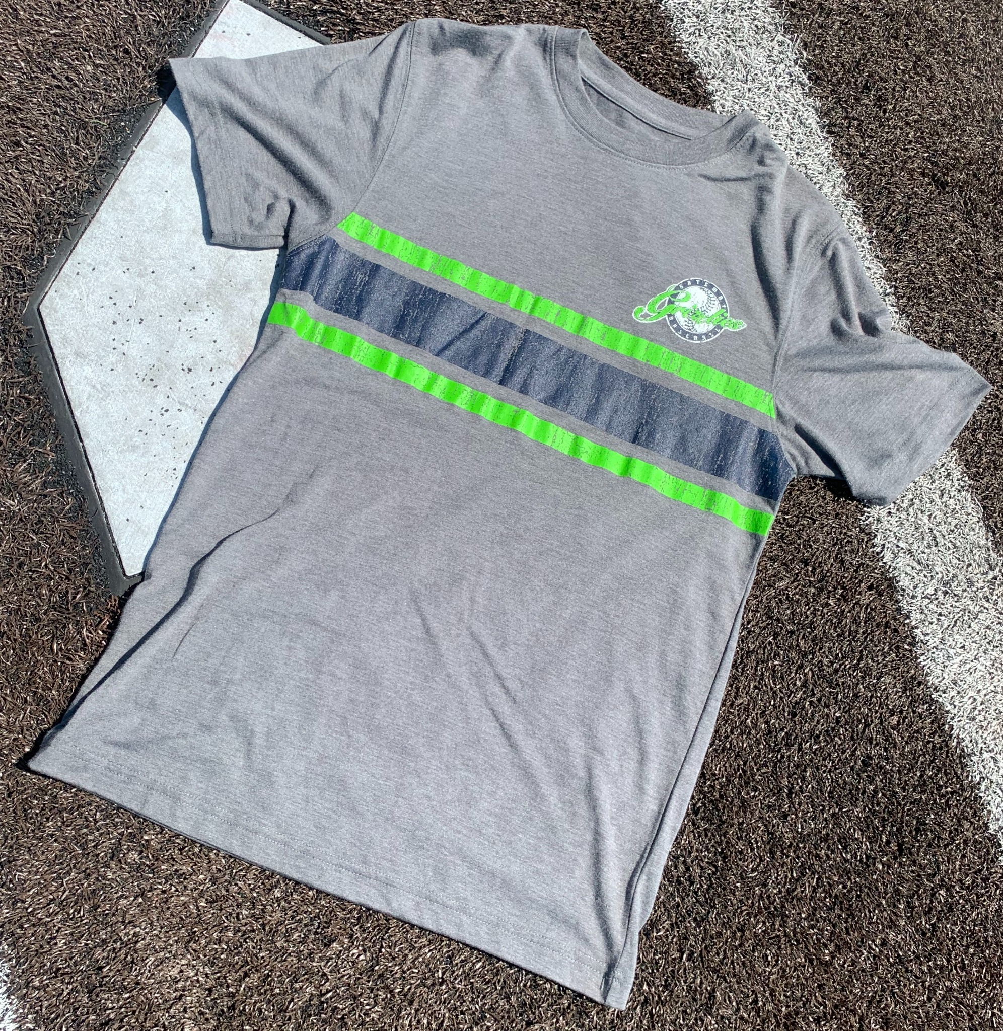 Striped Gateway Grizzlies Tee