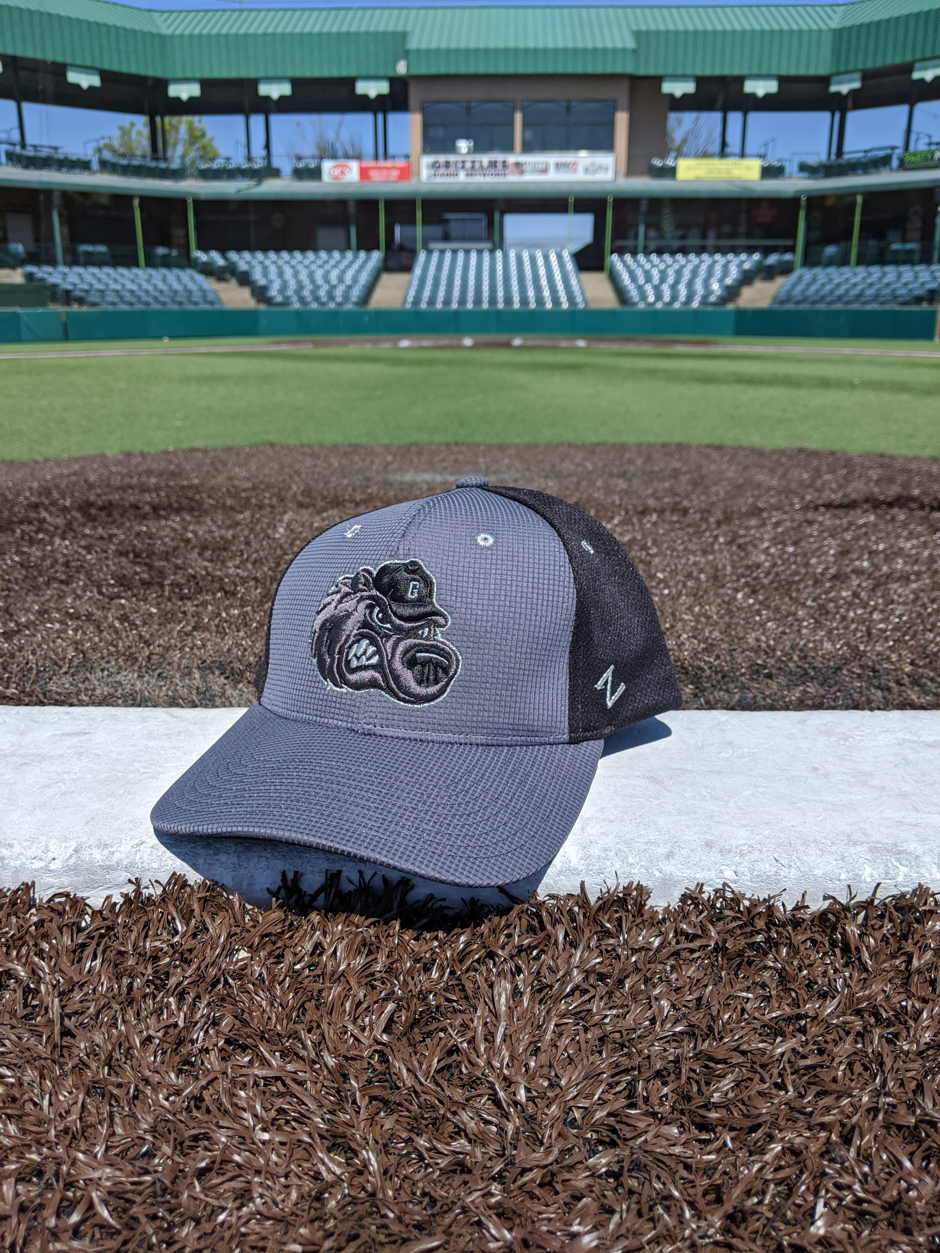 Grey/Black Slugger Hat