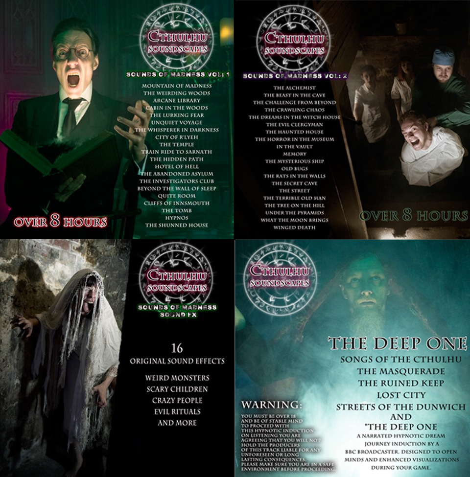 "Cthulhu Soundscapes ""HELL PACK"" Over 24 hours of Horror! Vol One, Two & Three PLUS extras"
