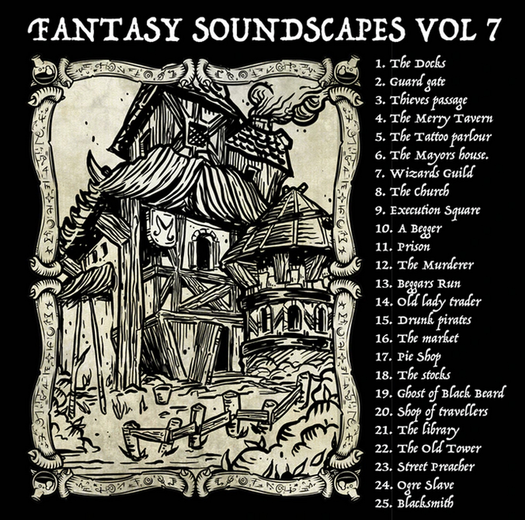 """Fantasy Soundscapes Vol 7 & 8 """"Town and City"""""""