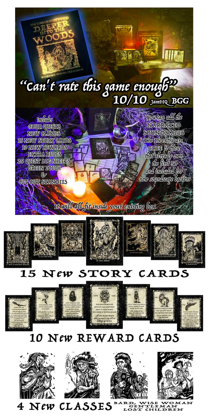 "The StoryMaster's Tales ""Deeper into the Woods"" Expansion Print & Play*No physical copy will be sent"