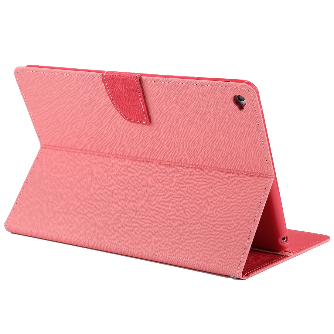 iPad Air 2 Case Cross Texture Leather Case with Holder & Slim Profile (Pink)