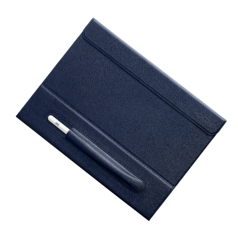 iPad 9.7 Case Mutural Trendy Leather Case with Pen Holder (Blue)