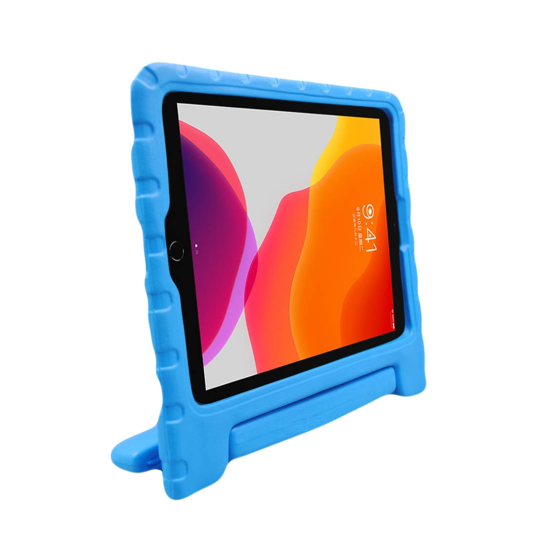 iPad Air Case (10.5 Inch) Durable Protective Armor Case With Handle & Holder (Blue)