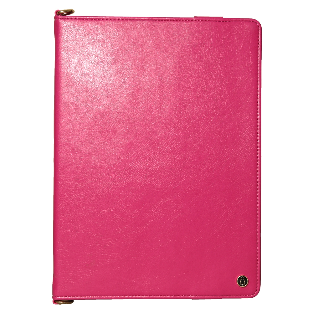 Leather iPad Air 3 Case (10.5 Inch) With Sleeves, Pen Holders, Frame & Shoulder (Rose Red)